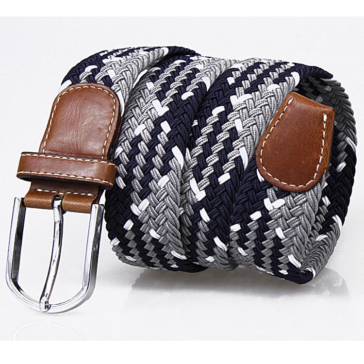 男女編みベルト夏ファッションカジュアルなスポーツキャンバスベルトとしては