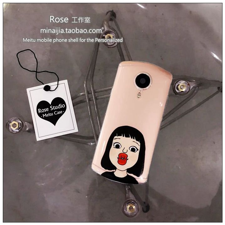 Original little girl kiss M6s mobile phone shell V4s/M4/M8 Mito T8 transparent soft sleeve, personality lovely Japan and South Korea