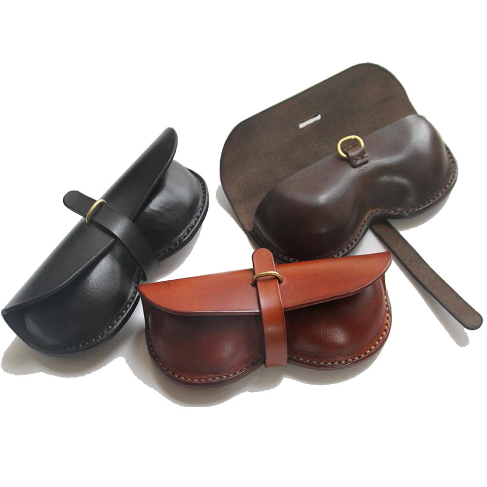 眼鏡盒子/墨鏡盒/太陽鏡盒/近視鏡盒頭層黃牛皮 原創手工 包郵
