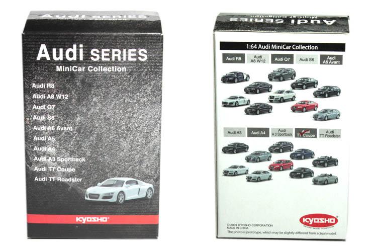 KYOSHO1 (vehículos): 64 serie de Audi de modelos de automóviles A3A4A5A8R8Q7A6 estática