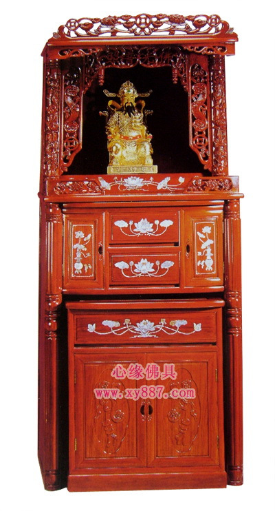 35 inch red pear double bucket double cylindrical cabinet floor / table / god Buddha shrines (including glass tank)