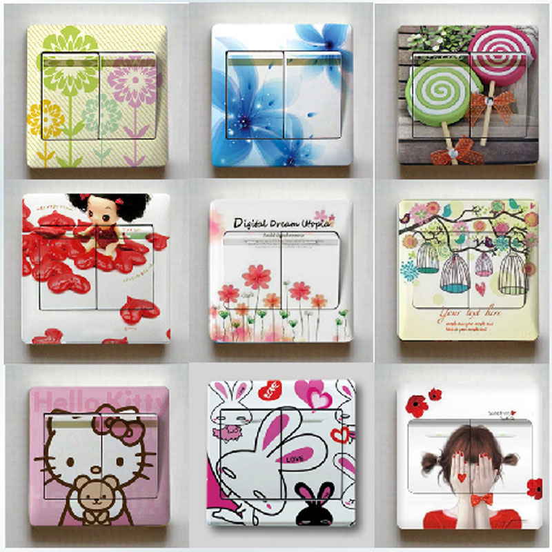 Switch stickers creative switch stickers stickers stickers stickers cartoon creative switch switch sticker paper towel color stickers