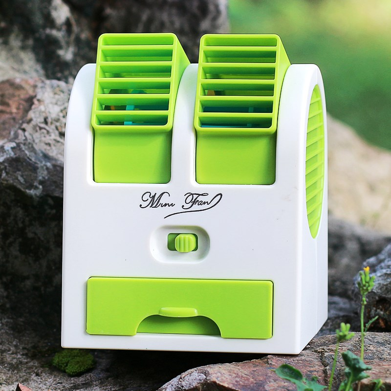 Mini fan, air conditioning, refrigeration, large wind, student dormitory, portable USB, portable small rechargeable battery