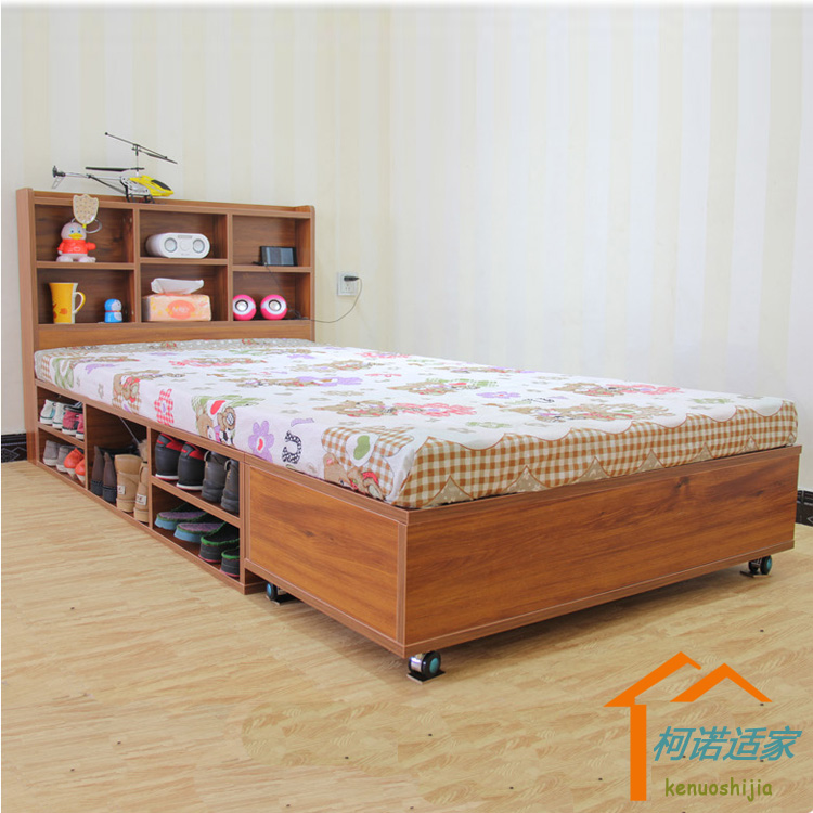 Economic type double Zhuwo shop tatami bedstead Mediterranean style bed double bed 1.5 --- 1.8 meters