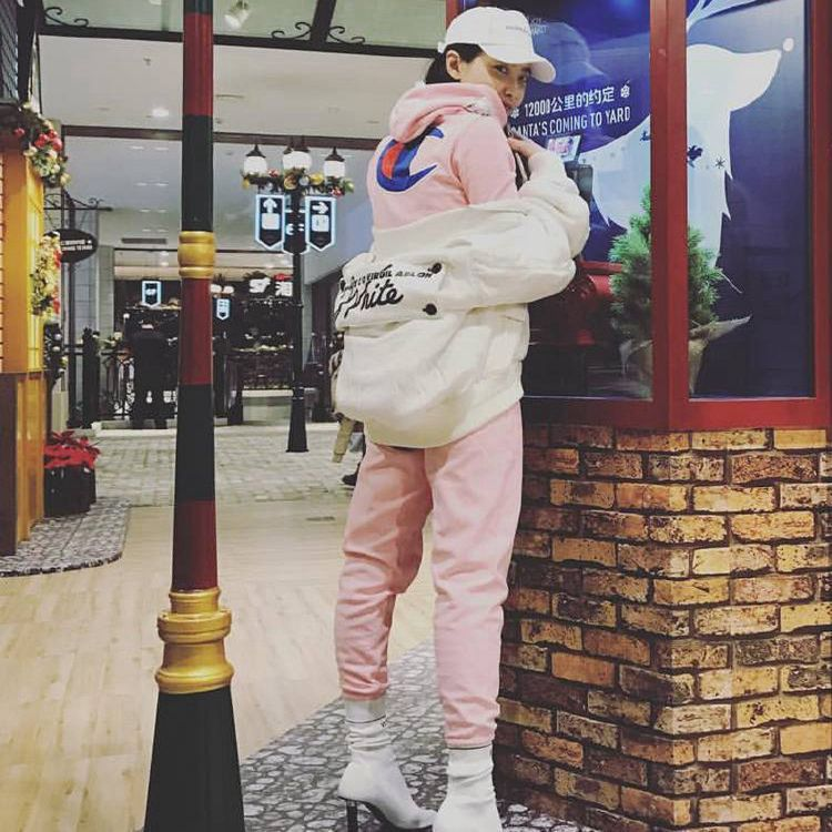 2017 hi brother Xia Daikin Li Xiaolu Song Jia with pink cotton sport sweater suit two pieces