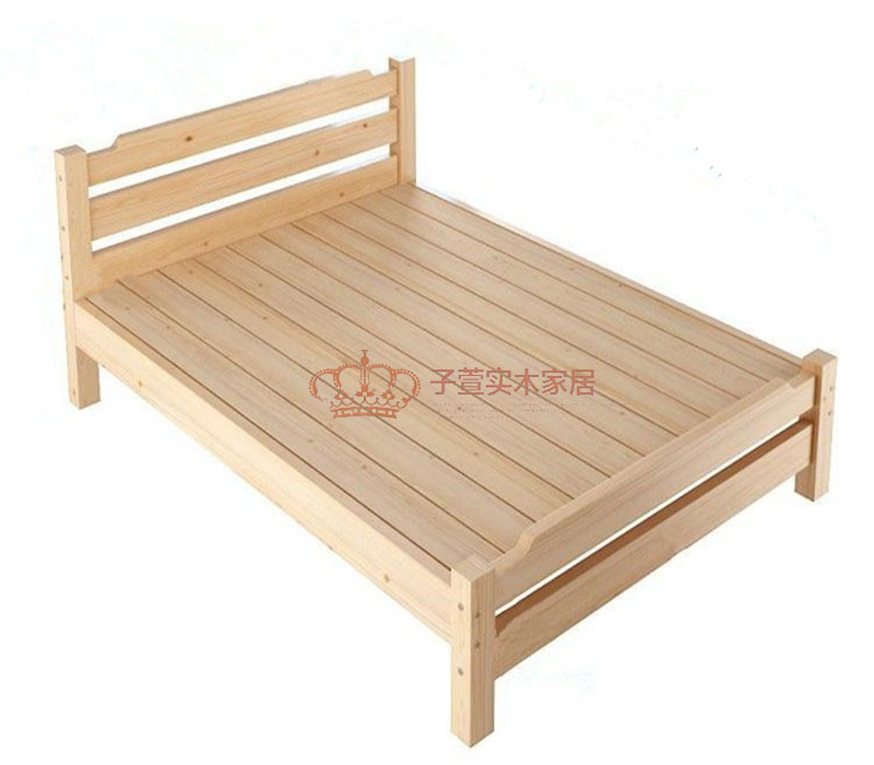 Special plastic double bed, 1.51.8 single bed, children's bed, 1.01.2 simple pine bed