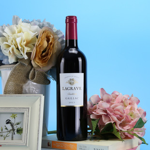 法国AOC级正品原瓶原装进口红酒干红葡萄酒750ml特价包邮送礼品