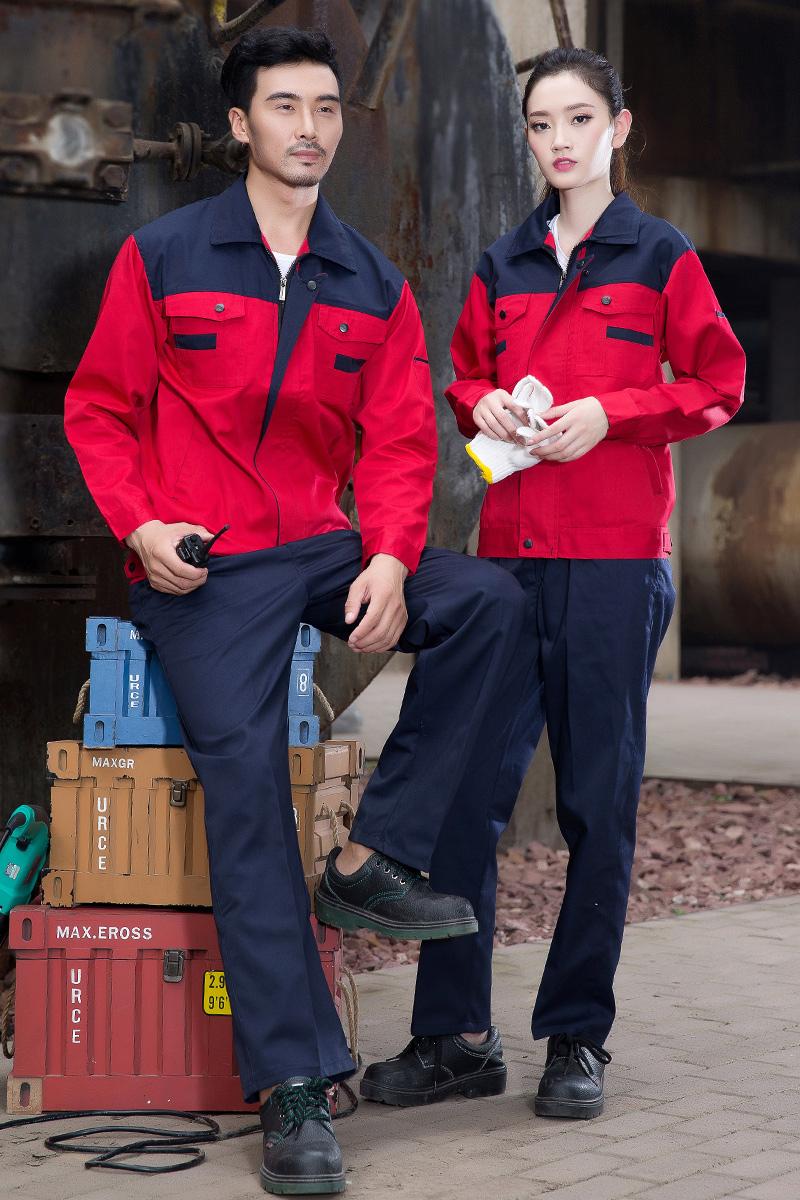 Traje de hombre vestido de manga larga de trabajo de ingeniería de ropa de trabajo, ropa de trabajo y herramientas el hombre vestido de uniforme ropa de la fábrica de automóviles