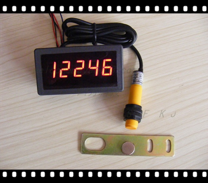 Panel Mount Frequency Counter : Panel meter tachometer frequency table digital