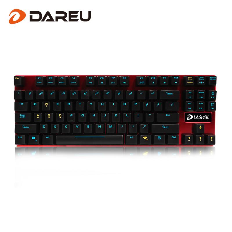 Dahl Migliori Macchine la versione di Lega Asse Rosso 87 tastiera controluce - tastiera LOLCF chiave Meccanica di gioco