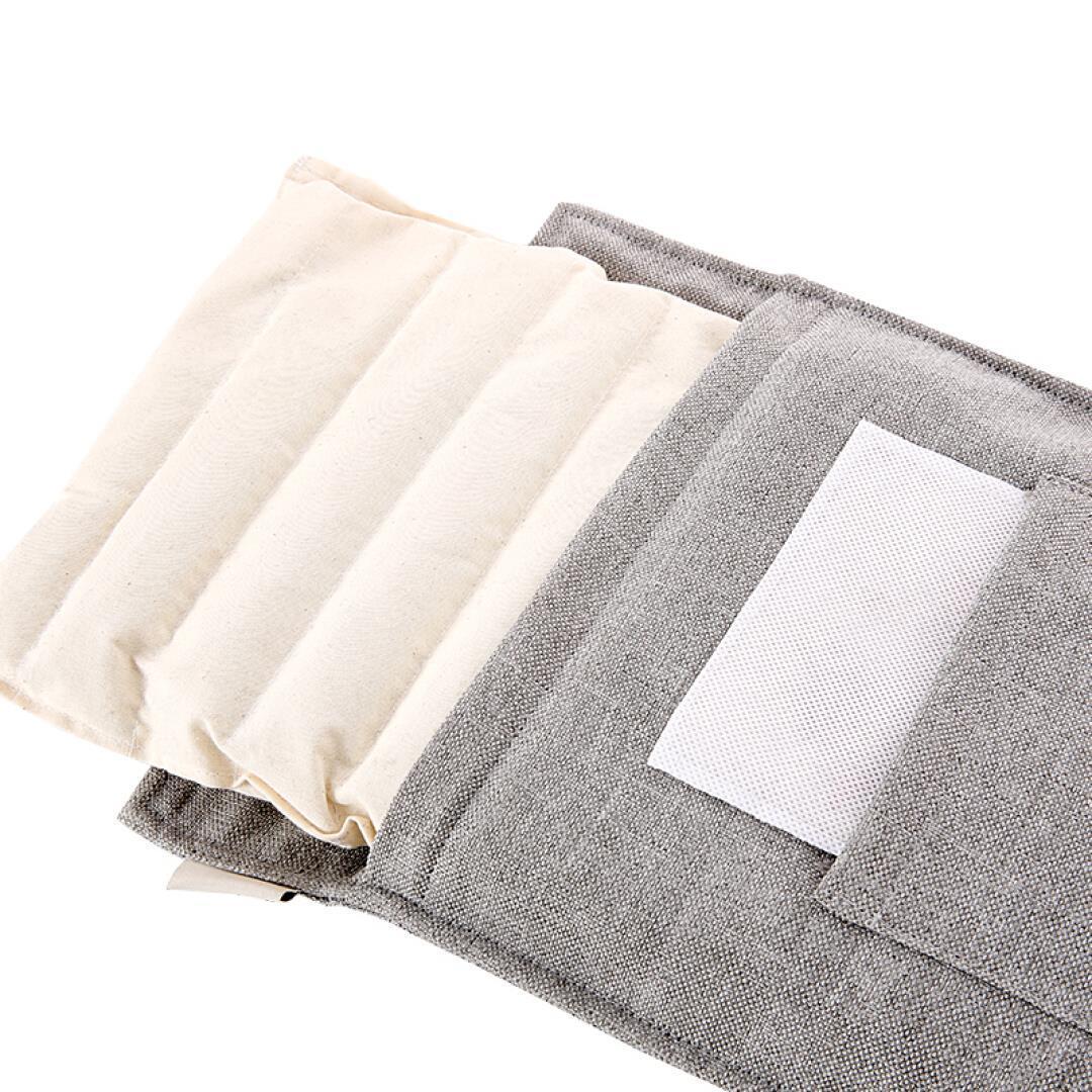 諾泰海塩温湿布バッグ電気加熱護ベルト亜麻灸粗製塩ホットパックグレー
