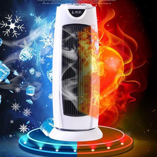 z glavo je gospodinjski električni ventilator grelnika stolp iz kopalnice in otroka za varčevanje z energijo in blaga z dvojno rabo, topel zrak klimo.