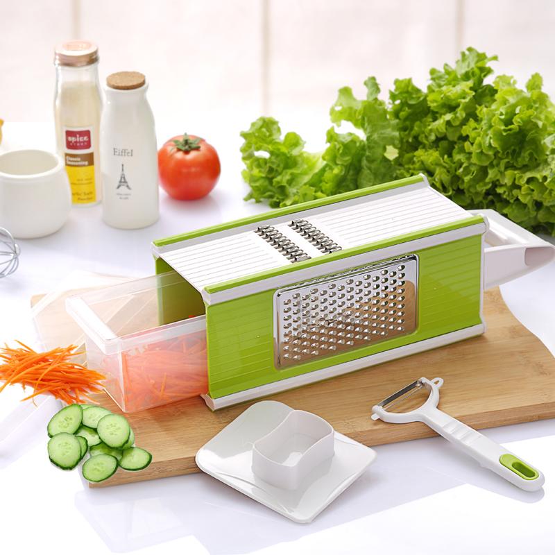 乐尚多功能切菜器 厨房切丝切片磨蓉切菜神器