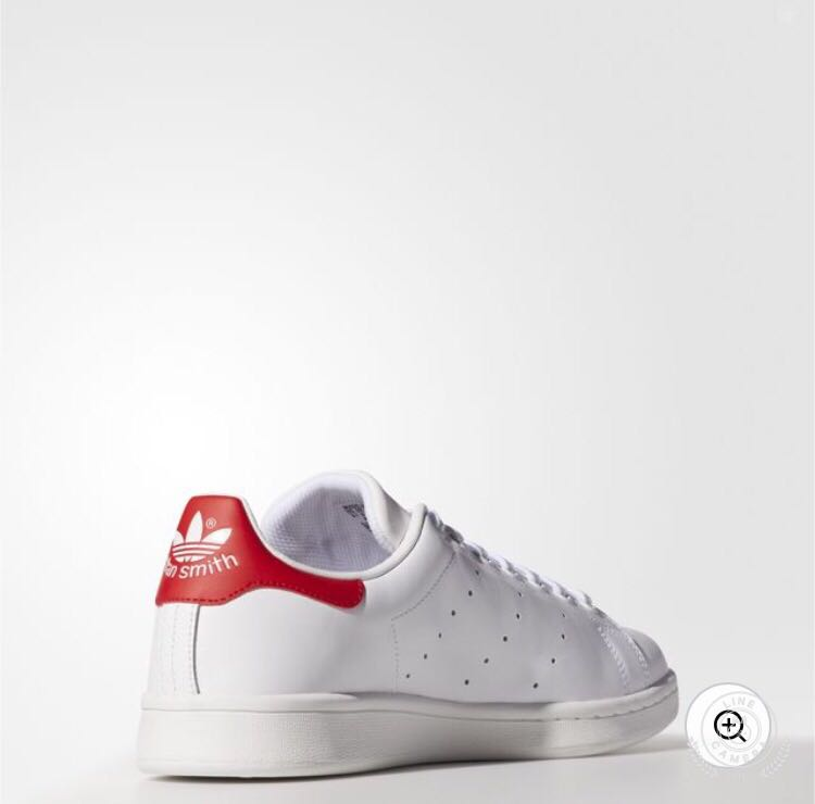 American adidasstansmith red tailed white shoes