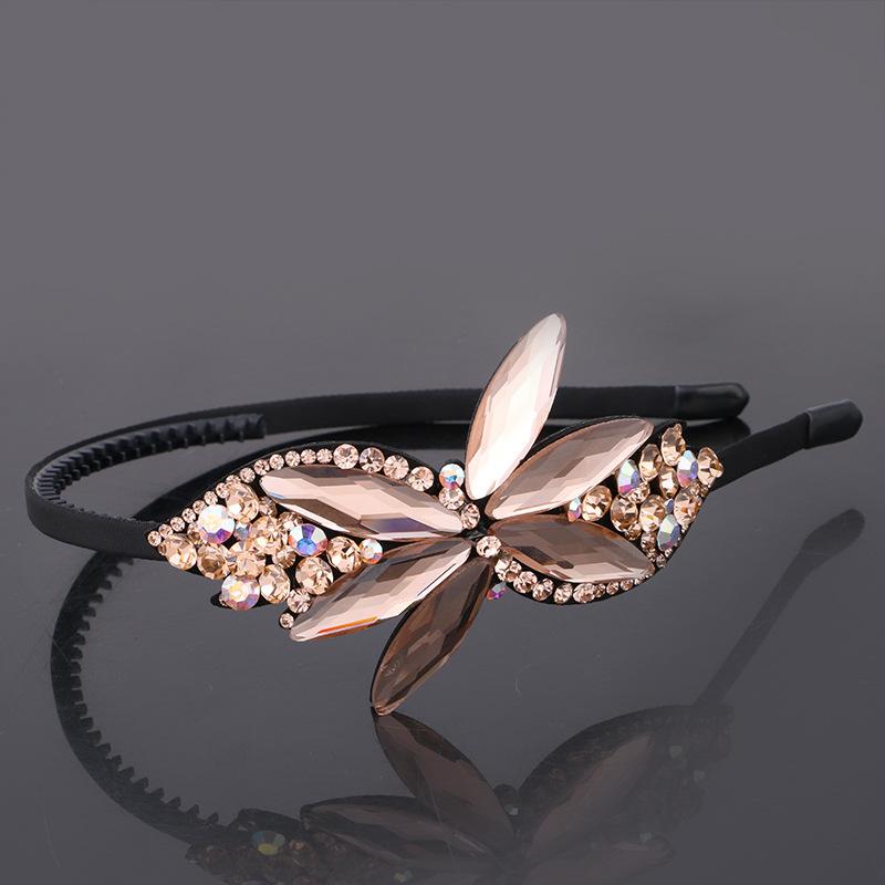 Korean version of the new fashion exquisite diamond jewelry Korea Olympic hoop belt tooth headdress with Rhinestone Hair bangs hair accessories