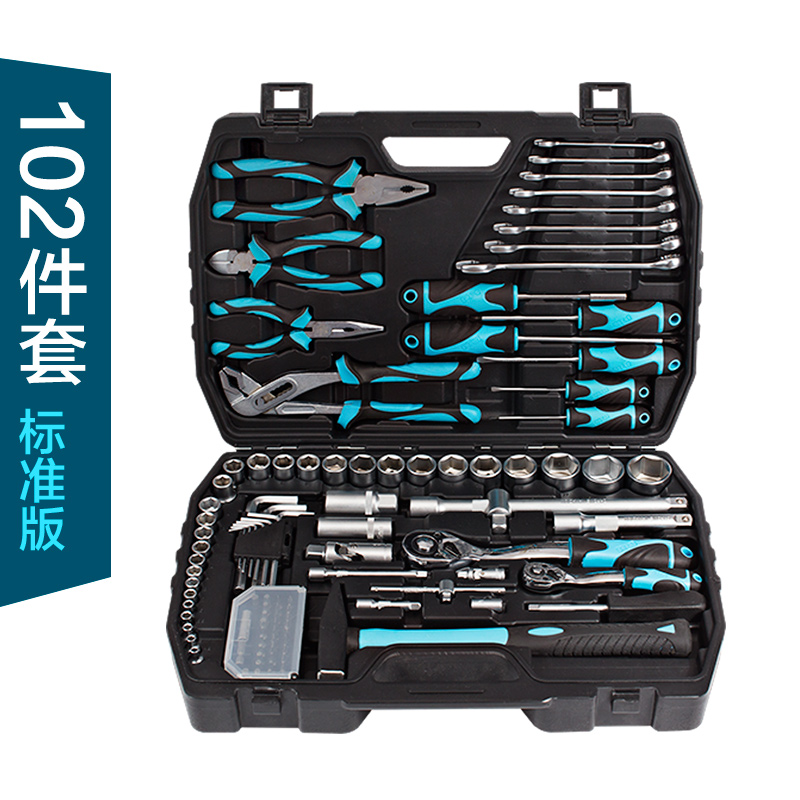 102 tool kit family combination car emergency automobile maintenance multifunctional mechanical repair tool