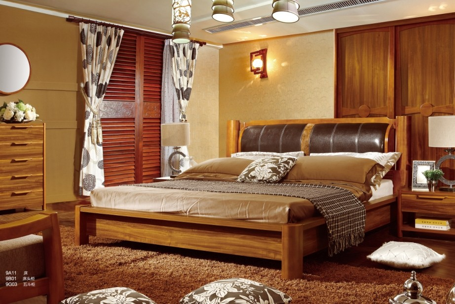 Teak Suites 1.5/1.8 meters double soft bed by 9A11 atmospheric fashion imports