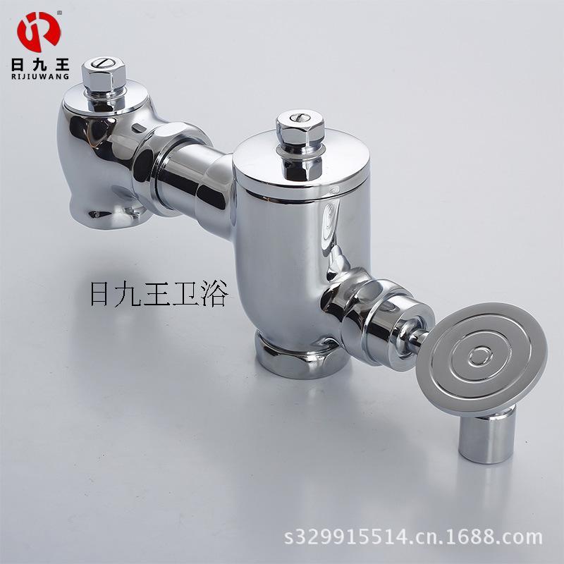 Horizontal pedal type flushing valve for squatting toilet, toilet bowl flushing valve and squatting flush valve