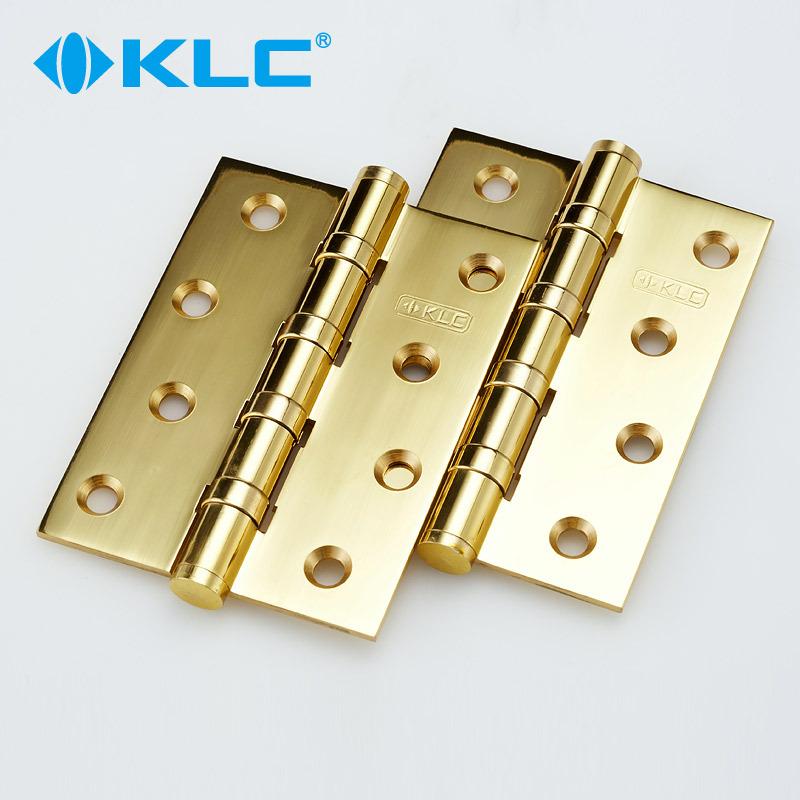 Alemania KLC cobre todo el mudo de la puerta de bisagra bisagra bisagra bisagra de cobre de 2 comprimidos de color dorado y brillante