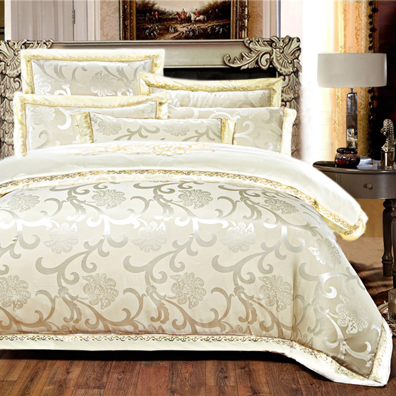 The order and four sets of Cathy Carolina Embroidered Cotton Satin Jacquard double bedding textile sheets 1.8m