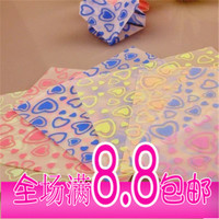 The peach hollowed out pattern origami origami origami luminous rose love