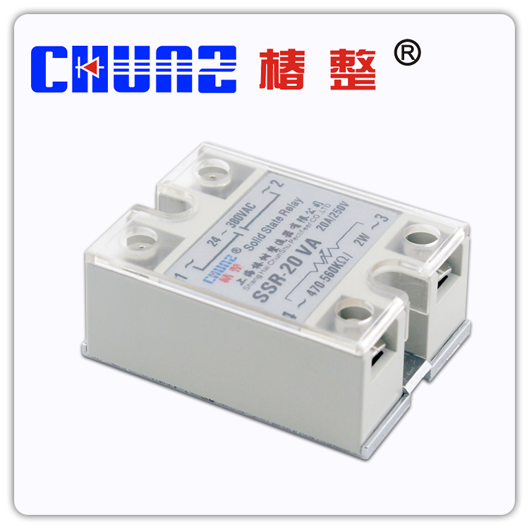 Solid state relay SSR20VA single phase solid state regulator contactless relay