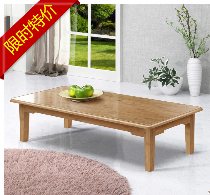 A small bamboo wood table bed desk Kang several small table table table table window tatami Kang Table