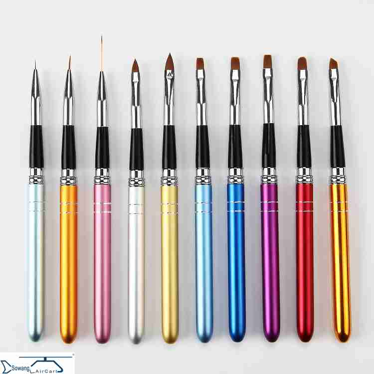 A special set of 10 sets of tools, brush, brush, brush and brush for drawing the mink brush