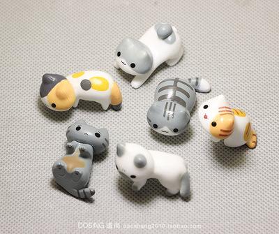 可爱版小动物 小号 小花猫 萌物 小猫咪 喵星人 塑料公仔模型摆件原单