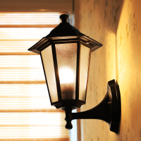 Double head wall lamp, gray exterior wall, 27 lamp holder, aisle lamp, waterproof wall lamp, European style courtyard, Les Loges Du Park Hotel lamp