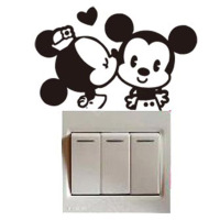 Authentic power switch attached to the simplicity of modern decorative wall stickers creative cartoon wall stickers socket