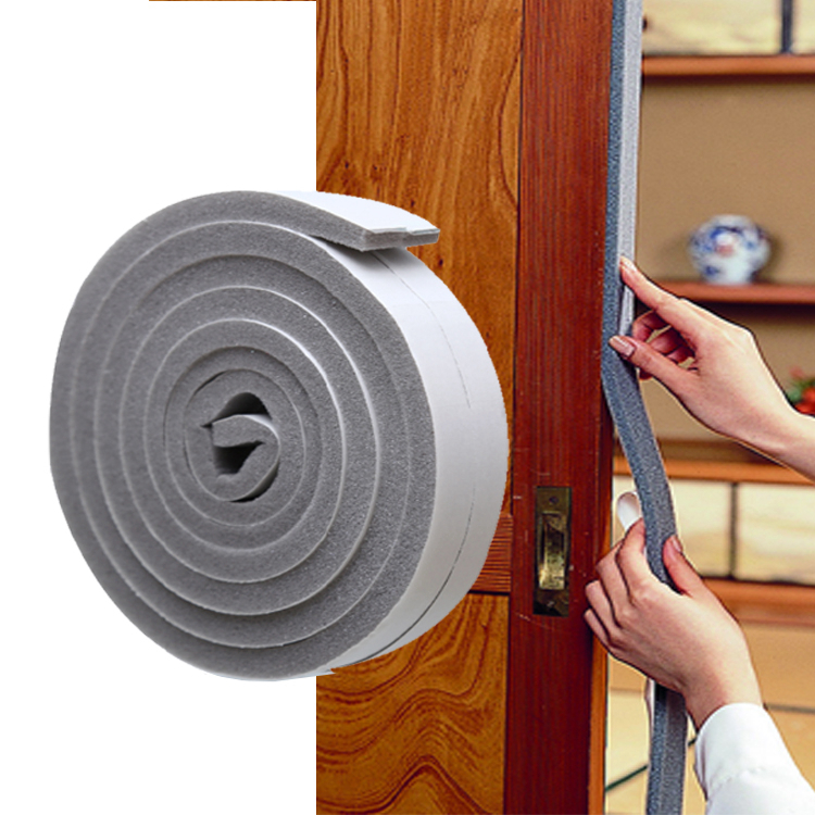 Plastic window insulation film sealing strip for door and window warm film self-adhesive windproof dustproof glass door