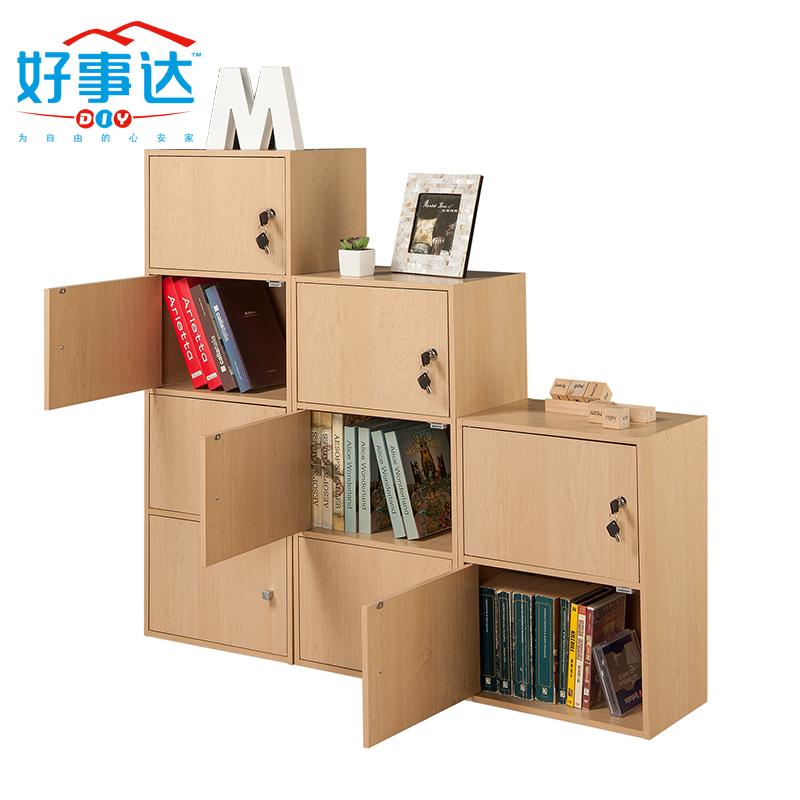 Taquillas con cerradura estantería estante pequeño armario de niños Gabinete de enrejado con Gabinete libre combinación de Rack