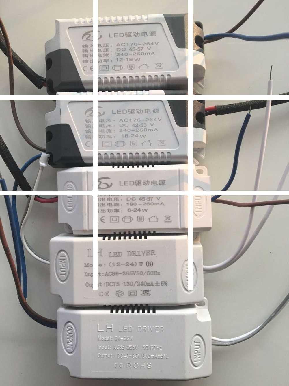 LED hút đèn hướng dẫn điện điều khiển đèn đậu phụ kiện máy biến áp đèn Đèn Bảng IC