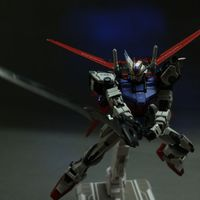 The first 1:72 alloy skeleton Strike Gundam model luminous coating finished products produced MOSHOW spot