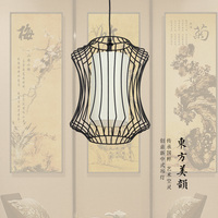 New Chinese style Iron Chandelier, custom-made dining room, living room lamp, tea house, hotel, courtyard, restaurant, iron line, creative lantern