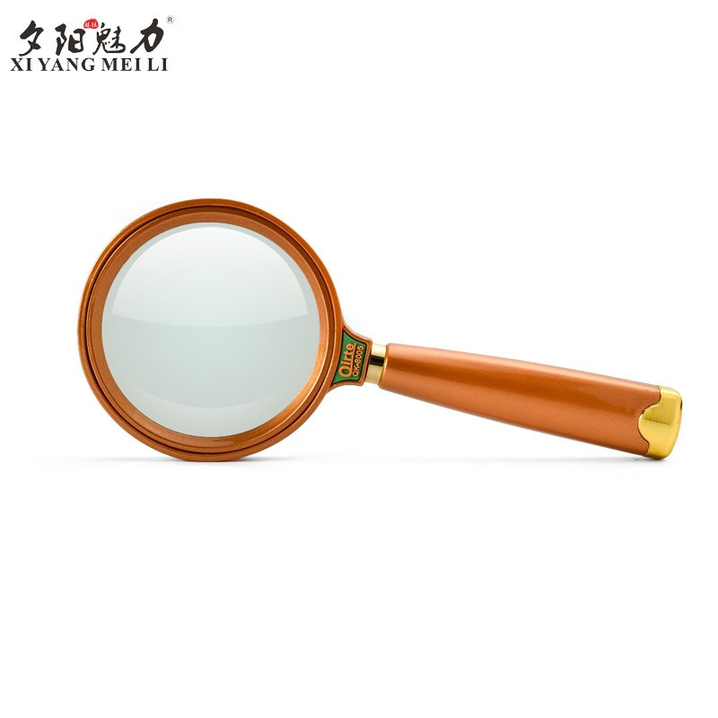 Maintenance reading of high resolution 10 times 15 times magnifier high definition glass lens wear-resistant magnifier