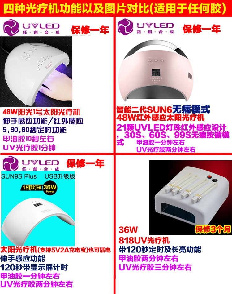 A professional Manicure kit for beginners full package post phototherapy nail polish glue phototherapy machine