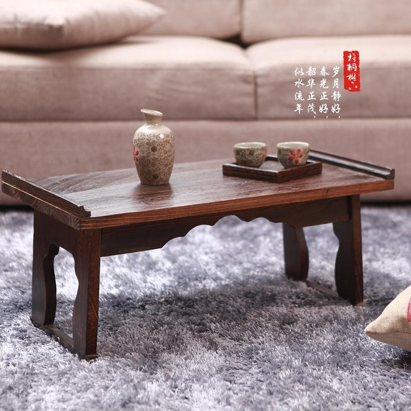 On new wood windows small tea table bed table tatami folding desk computer desk Japanese table