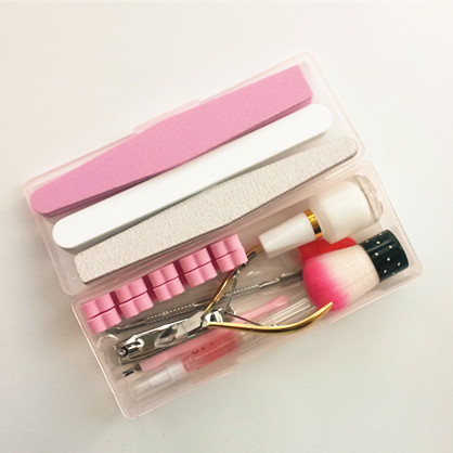Manicure nail tool nose 12 piece stainless steel trim full set of household Pedicure dug ears