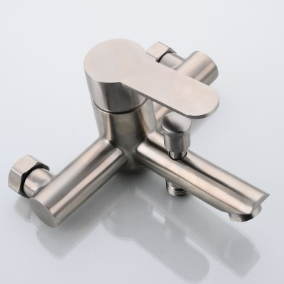 304 stainless steel bathtub faucet bathroom shower faucet triple concealed faucet hot and cold water mixing valve