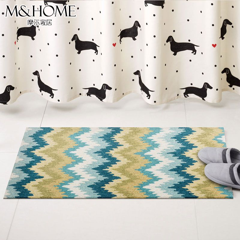 Bathroom, bathroom, kitchen mat, handmade round wear, northern Europe, simple home, pad, bedside blanket