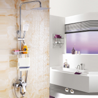 Copper shower faucet shower shower bath mixer of cold and hot water mixing valve switch valve
