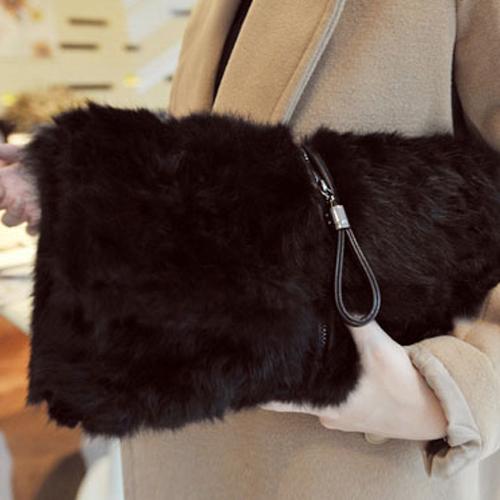 2017冬季新款兔毛皮草包毛毛包欧美潮手包手拿包单肩包斜挎包女包