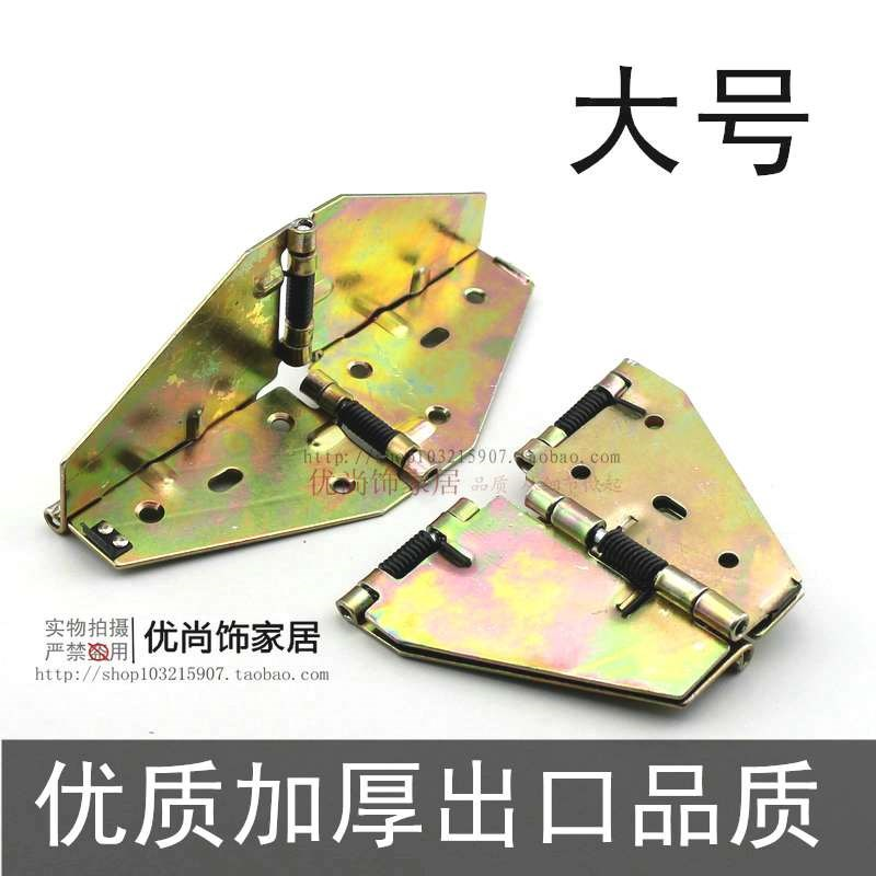 Spring table flip hinge, round table hinge, retractable folding round table, butterfly hinge, thicken large