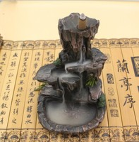 The rock flows back to the tower, fragrant sandalwood, cone incense, heavy smoke, incense smoke incense burner, backflow incense burner, Buddha supplies, incense