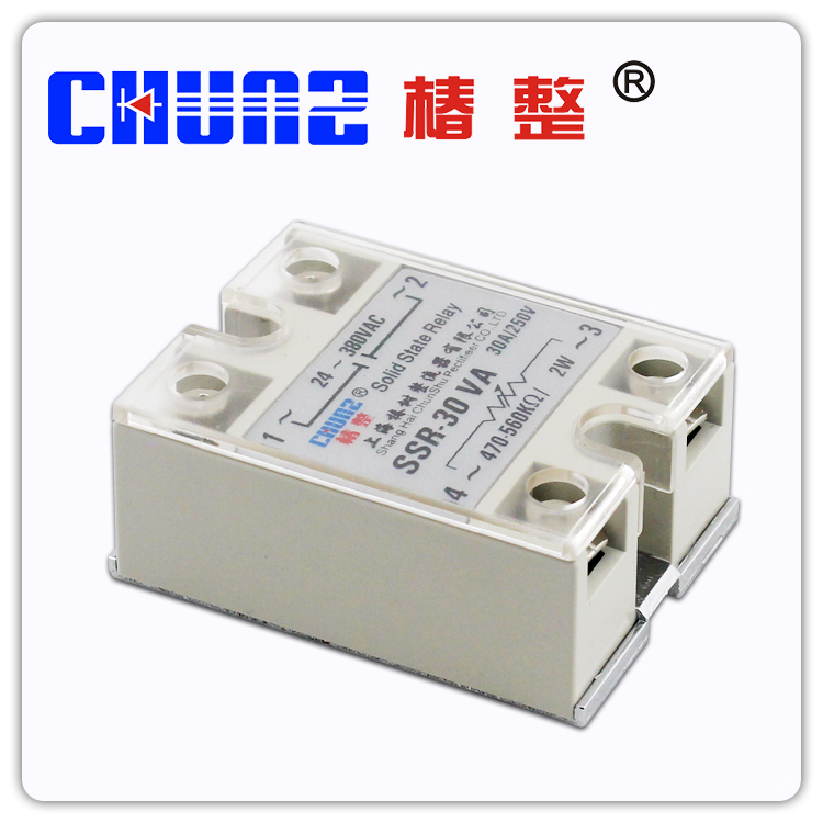 Solid state relay SSR30VA single phase solid state regulator contactless relay
