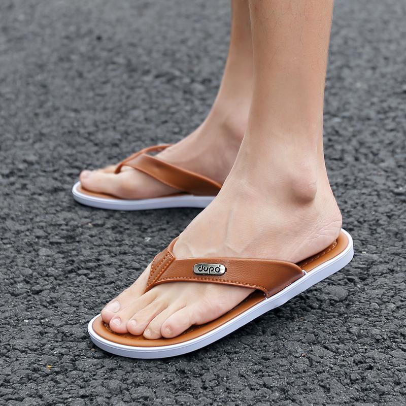 拖鞋人字拖夏季浴室拖鞋防滑凉鞋男鞋男士沙滩鞋凉鞋夹脚软底耐磨