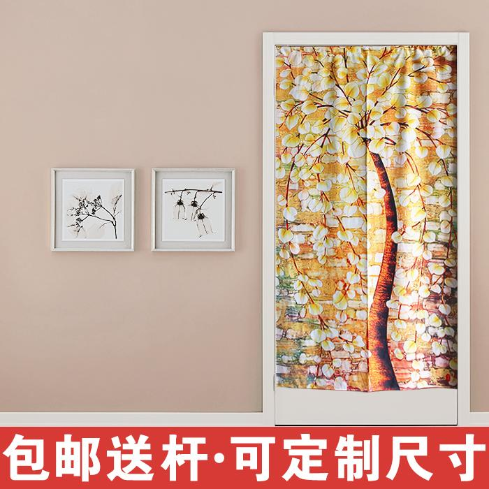 Fortune tree, Japanese door curtain, fabric bedroom, semi curtain living room, kitchen, bathroom, long curtain, Feng Shui partition curtain