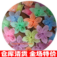 Lily candy colored origami fluorescent handmade paper Sakura origami origami origami paper 6.5CM luminous